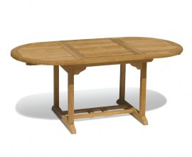 Oxburgh Bijou Extendable Single Leaf Teak Table - 1.2 - 1.8m
