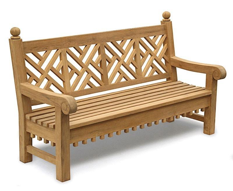 Churchill Teak 4 Seater Garden Bench - 1.8m