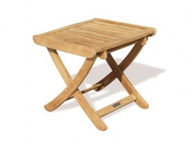 Tewkesbury Teak Adjustable Height Stool - Footstool