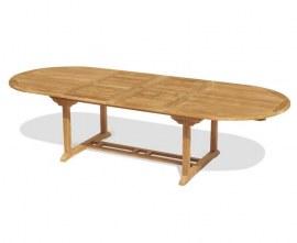 Oxburgh Teak Oval Extending Garden Table – 2-3m