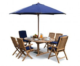 Oxburgh Extending Garden Dining Set with Cannes Chairs
