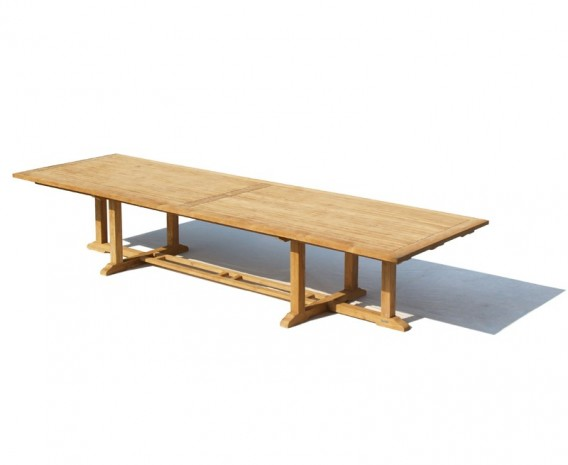 Winchester Teak Rectangular Extra-Large Garden Table - 4m