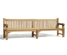 Gladstone Teak Large Teak Garden Bench - 3m