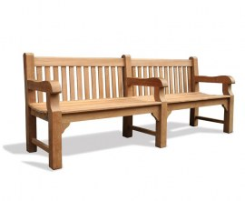 Gladstone Heavy Duty Park Bench with Arms - 2.4m