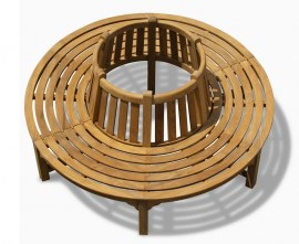 Round Teak Tree Seat 180cm