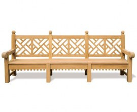 Churchill Teak Chippendale Bench - 2.75m