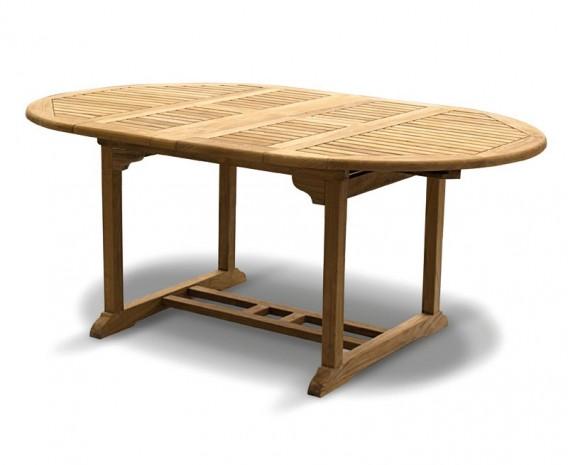 Oxburgh Teak Extendable Garden Dining Table, Double Leaf – 1.2 - 1.8m