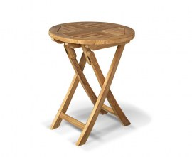Lymington Teak Round Folding Garden Table - 60cm