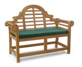 Teak Lutyens-Style Outdoor Bench