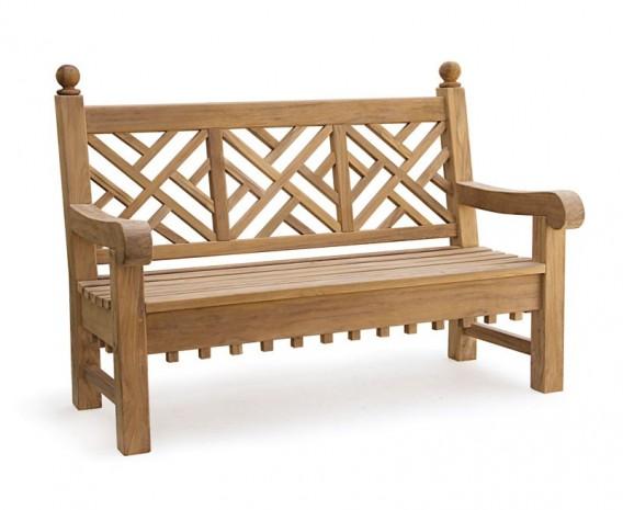 Churchill Teak Decorative Garden Bench