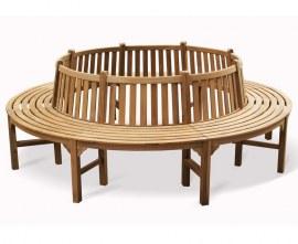 Teak Circular Tree Seat, Large - 2.96m