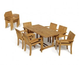 Winchester Teak Outdoor Dining Set