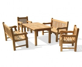 Gladstone 1.5m Bench Outdoor Dining Set