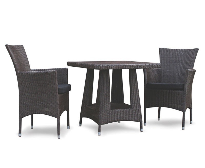 Verona 2 Seater Rattan Dining Set with 80cm Square Table