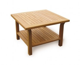 Square Teak Outdoor Coffee Table - 90cm