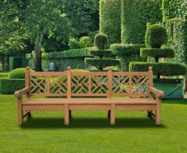 Large Lattice Back Outdoor Bench