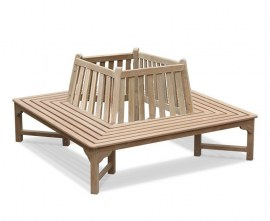 Teak Square Tree Bench - 1.8m