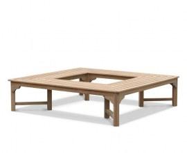 Square Teak Tree Seat - 1.8m