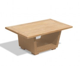 Calypso Teak and Rattan Garden Table