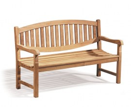Kennington 3 Seater Teak Outdoor Bench - 1.5m