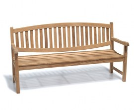 Kennington Teak 4 Seater Outdoor Bench - 1.8m
