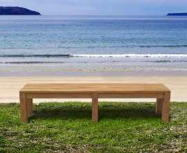 Kent Teak Backless Garden Bench - 2m