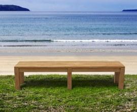 Mita Teak Backless Garden Bench - 2m