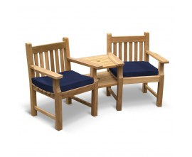 Turners Teak Jack and Jill Bench
