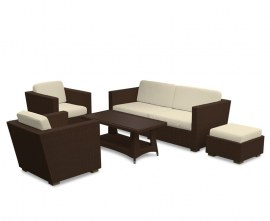 Verona Rattan Lounge Set - Java Brown