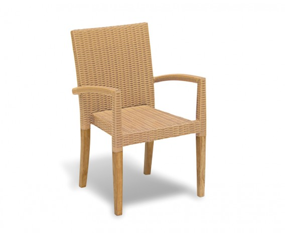 St. Moritz Teak and Rattan Stacking Chair