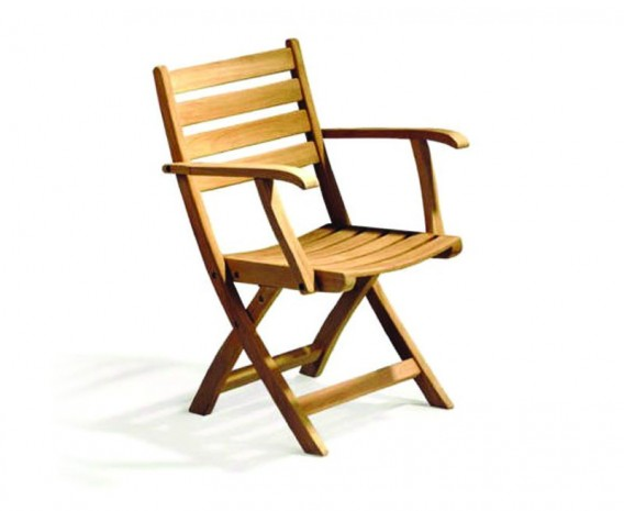 Lymington Teak Folding Garden Chair