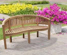 Curved Garden Bench