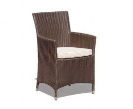 Verona Rattan Garden Armchair - Java Brown