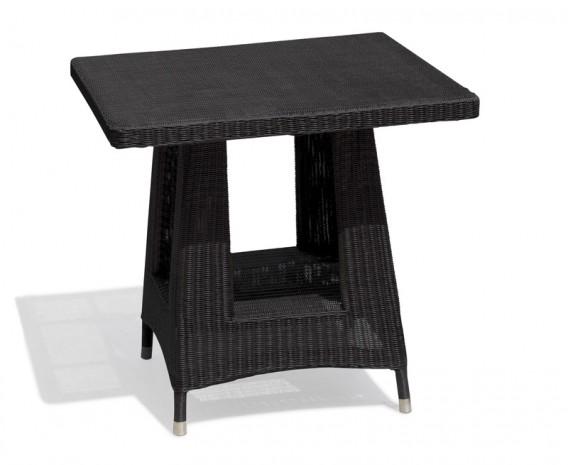 Verona Rattan Square Dining Table, Loom Weave - 80cm