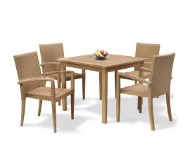 Hampton 4 Seater Outdoor Dining Set