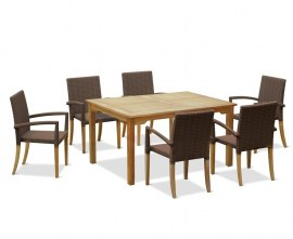 Hampton 6 Seater Table and Chairs Set