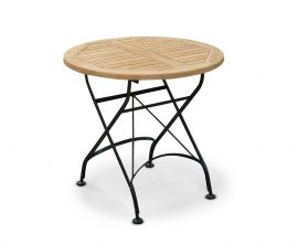 Café Round Folding Bistro Table Black - 80cm