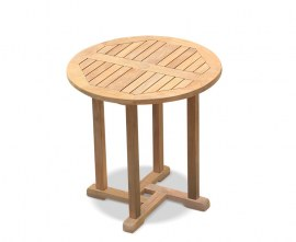 Sissinghurst Circular Teak Dining Table - 75cm