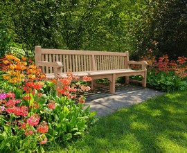 Gladstone Large Wooden Park Bench