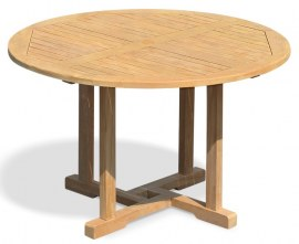 Sissinghurst Round Teak Outdoor Dining Table - 1.2m