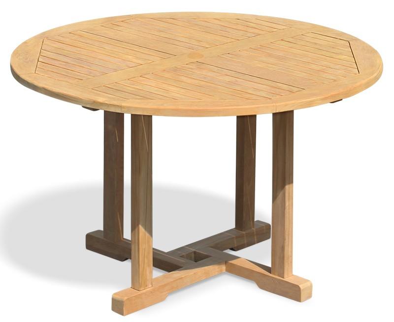 Sissinghurst Round Teak Outdoor Dining Table - 1.2m