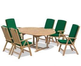 Oxburgh 6 Seater Extending Garden Dining Set