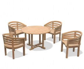 Sissinghurst 4 Seater Round 1.2m Dining Set with Bloomsbury Chairs
