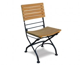 Teak Folding Cafe Chair | Wooden and Metallic
