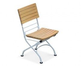 Café Folding Garden Bistro Chair - White