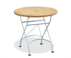 Café Round Folding Bistro Table White - 80cm