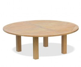 Orion Large Round Teak Garden Table - 2.2m