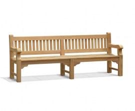 Promenade Teak Heavy Duty Garden Bench - 2.4m