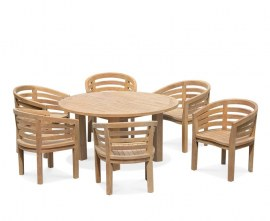 Orion 6 Seater Round 1.5m Garden Table with Bloomsbury Chairs