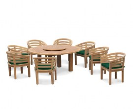 Orion 8 Seater Round 1.8m Garden Table with Bloomsbury Chairs